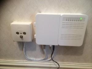 Lasses TV uttag installerat